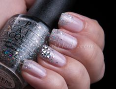 ChitChatNails » glitter-tip manicure by adding OPI Which is Witch?