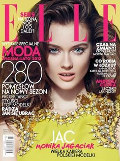 Monika Jagaciak  Elle Magazine Cover [Poland] (March 2013)
