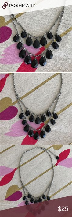 BLACK STONES STATEMENT NECKLACE Beautiful necklace! New in package. Beautiful onyx style stones. Dust bag included.                                                     💗Condition: New in package. Includes dustbag 💗No trades 💗No returns 💗No modeling  💗Shipping next day 💗All reasonable offers welcome 💗BUNDLE and save more aerie Jewelry Necklaces