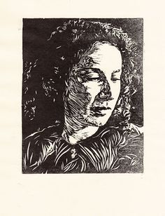 'Margaret Atwood' linocut by Jade They. www.jadethey.com. Tags: Linocut, Cut, Print, Linoleum, Lino, Carving, Block, Woodcut, Helen Elstone,  Portrait, Woman, Female, Face, Writer.