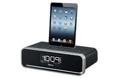 iHome iDL91 Dual Charging Stereo FM Clock Radio with Lightning Dock and USB Charge/Play for iPod/iPad and iPhone 5/5S and 6/6Plus  iHome iDL91 Dual Charging Stereo FM Clock Radio with Lightning Dock and USB Charge/Play for iPod/iPad and iPhone 5/5S and 6/6Plus                    View larger       Dual Charging Stereo FM Clock Radio     The iDL91 is a dual alarm clock radio that lets you charge your iPad, iPhone or iPod and lets you wake and sleep to either one, to a custom playlist, ..