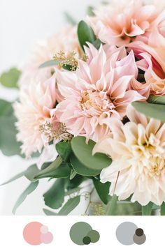 Dahlia color palette Source by carolinruer Wedding Reception Flowers, Fall Wedding Bouquets, Wedding Flower Decorations, Flower Crown Wedding, Flower Bouquet Wedding, Floral Wedding, Summer Flowers, Colorful Flowers, Beautiful Flowers