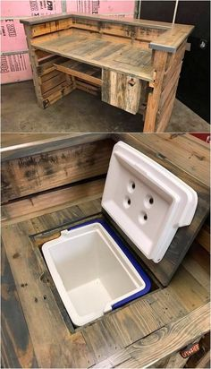 Pallet Bar Table with Cooler