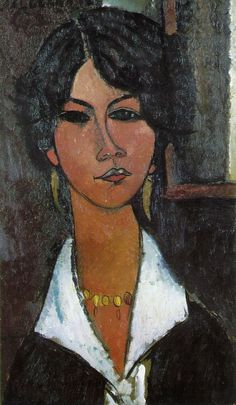 Modigliani, Amedeo Woman of Algiers 1917 Oil on canvas 55 x 30 cm Museum Ludwig, Cologne Amedeo Modigliani, Modigliani Paintings, Italian Painters, Italian Artist, Museum Ludwig, Illustration Art, Illustrations, Oil Painting Reproductions, Famous Artists