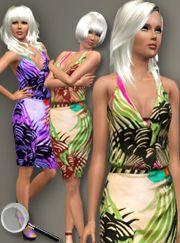 ALL ABOUT STYLE -Alberta Ferreti Halter Dress