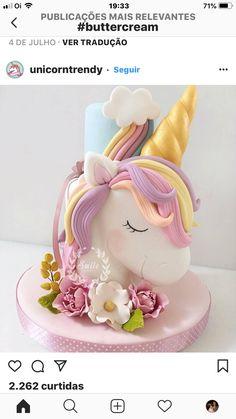 10 Beautiful Unicorn Cake Designs - The Wonder Cottage Unicorn Cake Design, Unicorn Cake Topper, Unicorne Cake, Cupcake Cakes, Cake Smash, Birthday Cake Girls, Unicorn Birthday Parties, Colorful Birthday Cake, Birthday Kids