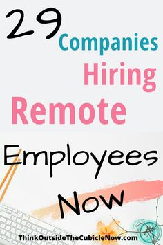 These 29 companies are currently hiring remote employees. Make Money Online Now, Ways To Earn Money, Earn Money From Home, Make More Money, Extra Money, Typing Jobs From Home, Online Jobs From Home, Work From Home Companies, Work From Home Opportunities