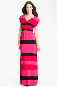 Current Affair Stripe V-Neck Maxi Dress