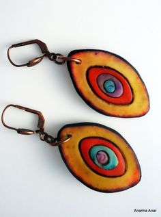 Polymer clay earrings by AnarinaAnar on Etsy