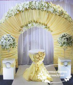 Арка с белыми розами - Свадьбы :: Фотогалерея воздушных шаров - Все о воздушных шарах. Аэродизайн - оформление воздушными шарами.