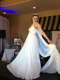 This lovely gown was presented at Acquaviva Winery Bridal Expo provided by Ms. Moda.