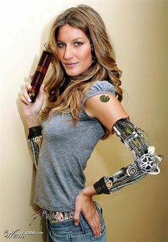 Krys is a cyborg, but she doesn't look quite like this one.