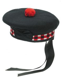 The Balmoral is a Scottish military hat. Scottish hats with the plaid pattern are referred to as diced.