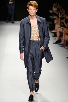 super light tailored. long jacket. Vivienne Westwood Spring 2013 Menswear