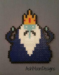 Ice King - Adventure Time Perler Bead Figure by AshMoonDesigns