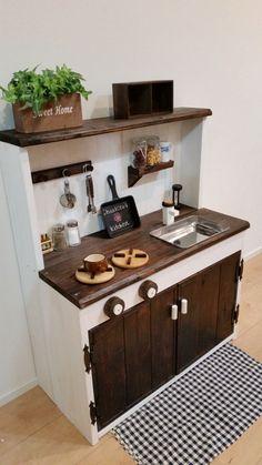 ♪*.オシャレな木製おままごとキッチン.*゜