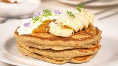 How to make Pancakes with Sour Starter or Masa Madre. Honey And Warm Water, Kombucha Recipe, How To Make Pancakes, Plain Yogurt, White Bread, Starters, Baking Soda, Homemade, Breakfast