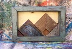 Items similar to Mini Wood Mountain Art on Etsy Wood Walls, Wood Wall Art, Repurposed Wood, Mountain Art, Geometric Wall Art, Pallet Wood, Rustic Style, Wood Working, Brewery