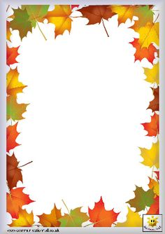 Image renooosult for fall writing paper templates Borders For Paper, Borders And Frames, School Frame, Leaf Border, Writing Paper, Border Design, Printable Paper, Printable Border, Coloring Pages For Kids