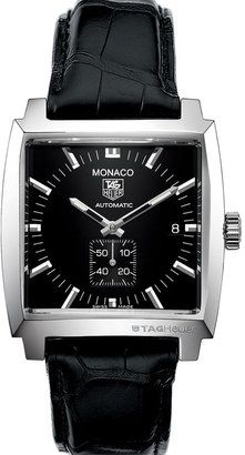 TAG Heuer 'Monaco' Alligator Strap Watch, how I do love this watch!