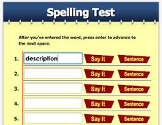 grading differentiated spelling tests