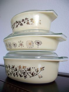Vintage Pyrex Goldleaf & Creams | Another beauty (the very b… | Flickr