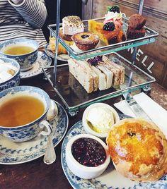 Afternoon tea at the Blackbird Tearoom - Brighton, England by tavern_brighton