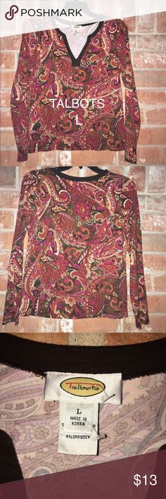 """Lovely Top By Talbots Size L This top is in EUC. It was/is too small for me😩 it is made with prima cotton, modal and spandex. The material is so soft and amazing. It measures 20"""" underarm to underarm and is 24"""" long. 💕💕💕 Talbots Tops Blouses"""