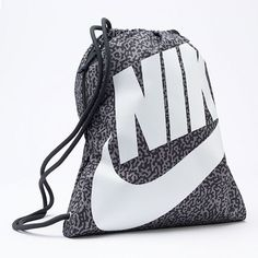Heritage Black Drawstring Backpack - Black/white/(white) Nike