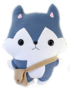 Anime Plushie Pattern | wolf kawaii pillow plushie by teacuplion artisan crafts dolls plushies ...