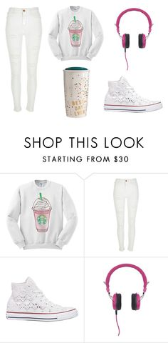 """Starbucks"" by ibemaz ❤ liked on Polyvore featuring River Island, Converse and Crosley Radio & Furniture"
