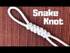 How to tie the Snake Knot (easy method) Jewelry Knots, Bracelet Knots, Paracord Bracelets, Snake Knot Paracord, Lanyard Knot, Loom Bracelets, Macrame Bracelets, Friendship Bracelets, Macrame Cord
