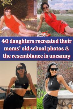 #daughters #recreated #moms #school #photos #resemblance #uncanny Mirror Photography, Creative Photography, Photography Poses, Illusion Photography, Cute Little Puppies, Cute Baby Cats, White Nike Shoes, Spring Crafts For Kids, Pastel Room