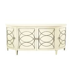 Duchamp Demilune Sideboard With Wood Top from the Atelier collection by Hickory Chair Furniture Co.