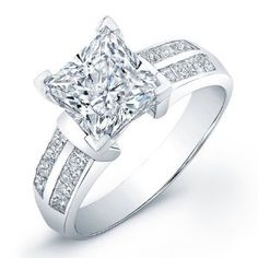 certified 1.30 ct princess cut diamond wedding engagement anniversary bridal ring set band - http://finejewelrygalleria.com/jewelry/religious-jewelry/certified-130-ct-princess-cut-diamond-wedding-engagement-anniversary-bridal-ring-set-band-com/