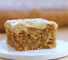 Can be oil-free / sugar-free / low-calorie / gluten-free / and vegan! Recipe---> http://chocolatecoveredkatie.com/2015/04/27/frosted-peanut-butter-snack-cake/