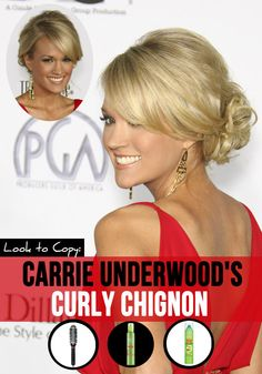 Carrie Underwood hairstyles | ... That Carrie Underwood Hair: The Curly Chignon | Latest-Hairstyles.com