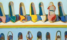 shoe rows - wayne thiebaud Part of the pop art movement Wayne Thiebaud, Painting Still Life, Still Life Art, Illustrations, Illustration Art, Pop Art Movement, Arte Popular, Gcse Art, Art Graphique