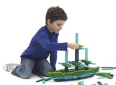 Best gifts for 8 year old boy - a TON of ideas like Citiblocks, a very cool wooden building toy.