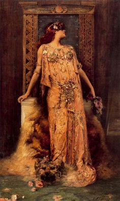 balsiek:    Sarah Bernhardt as Cleopatra - Georges Clairin