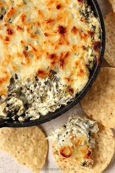 For the original post, click HERE. Print Spinach Artichoke Cheesy Dip Recipe Card Prep Time 10 mins Cook Time 10 mins Total Time 20 mins  Spinach Artichoke Cheesy Dip - hot and cheesy and everything a good dip should be! This classic is unbeatable and a must make for any party! Course: Appetizer Cuisine: …