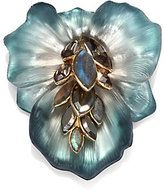 alexis bittar brooches | Alexis Bittar Semiprecious Jeweled Lucite Flower Pin $295