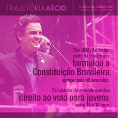 A Constituição Brasileira teve participação do Aécio. #VamosMudarOBrasil #AecioNeves