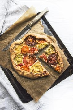 Vegan Heirloom Tomato Galette With Thyme Cream Cheese