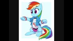 This is really cute! It looks like Equestria girl RD turned into a pony! :3