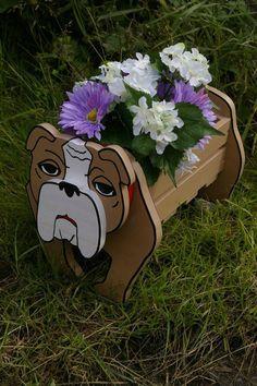 British Bulldog Planter. Garden Decorations. by Phoenixcrafts52, £24.99