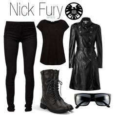 Nick Fury, created by sampoly on Polyvore