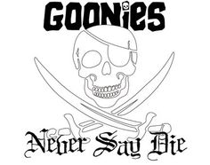 Tattoo design idea for fellow Goonie's. This is literally what I have been looking for for years. Finally!! Now, I just gotta get One Eye Willie's eye patch just right!