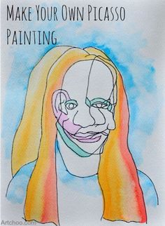 Picasso Cubism painting project for kids