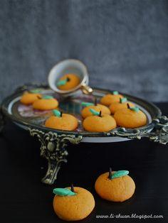 Mandarin Marzipan Cookies